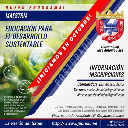 Oferta de Postgrado – Maestría en Educación para el Desarrollo Sustentable
